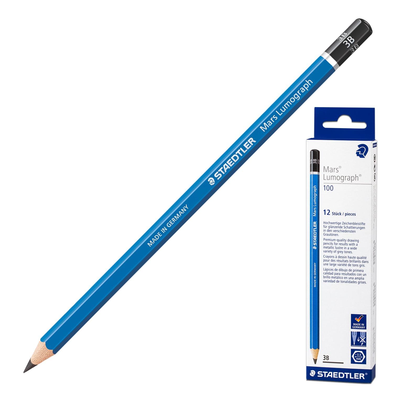 Набор карандашей STAEDTLER Mars Lumograph 3BА20064Заточенный чернографитный карандаш премиального качества для чертежных работ. Изготовлен в строгом соответствии с PEFC (программой одобрения схем лесной сертификации). Характеристики Твердость: 2B, Серия: Mars Ergosoft, Диаметр грифеля: 2 мм, Количество карандашей в наборе: 12 шт. Количество твердостей в наборе: 1, Форма корпуса: шестигранная, Заточенный: да, Ударопрочный грифель: да, Длина карандаша: 175 мм, Материал корпуса: дерево, Цвет корпуса: синий, Количество дизайнов в упаковке: 1, Упаковка: картонная коробка, Артикул производителя: 100-2B. Производитель: Германия.