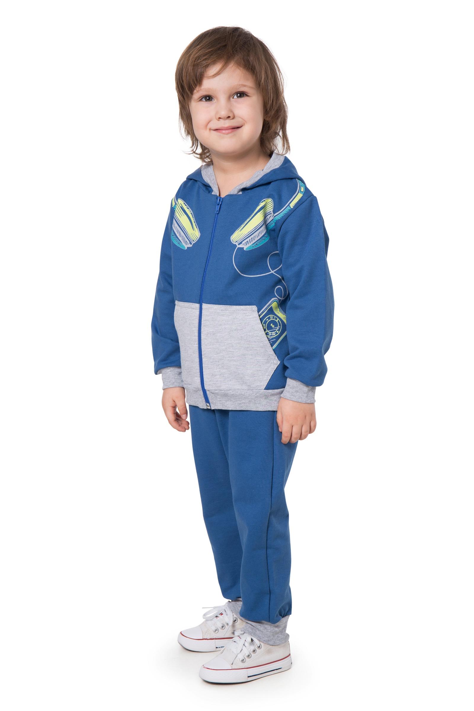 Комплект одежды Little world of alena КС05-2962-1_2_98-104, синий 104 размерКС05-2962-1_2_98-104В такой вещи ребенок даже на улице будет выглядеть стильно и нарядно. Удобный костюм с начесом в практичном цвете состоит из двух предметов. Куртка на молнии для дополнительной защиты головы от ветра снабжена капюшоном. Есть вместительные карманы, куда мальчик может сложить нужные мелочи. Штаны в спортивном стиле не задираются при беге и во время игр.
