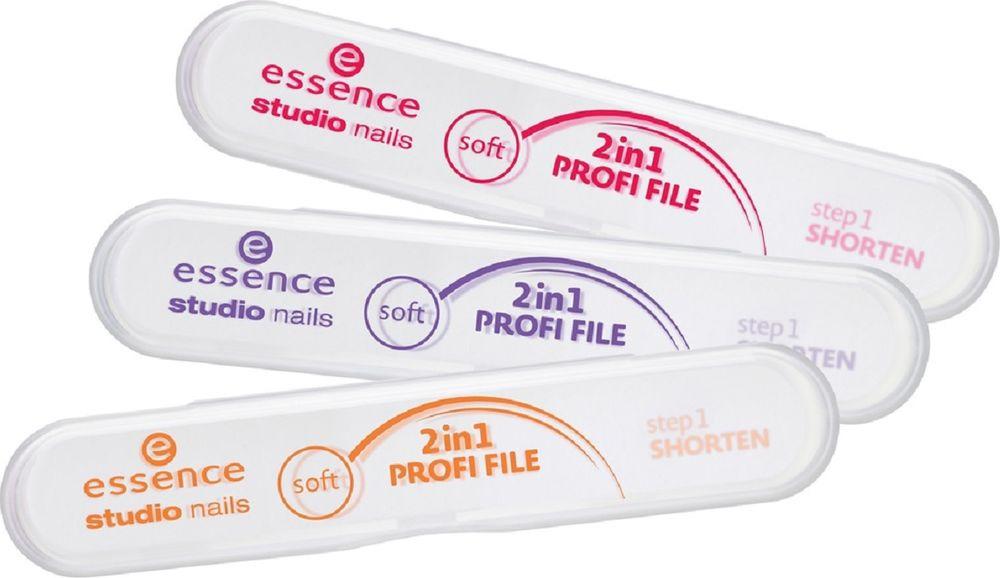 Пилочка для ногтей профессиональная 2 в 1 Essence Profi File essence пилочка для ногтей металлическая sapphire file