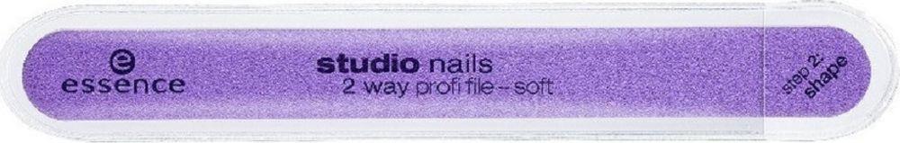 Пилочка для ногтей двусторонняя Essence Studio Nails 2 Way Profi File essence пилочка для ногтей металлическая sapphire file