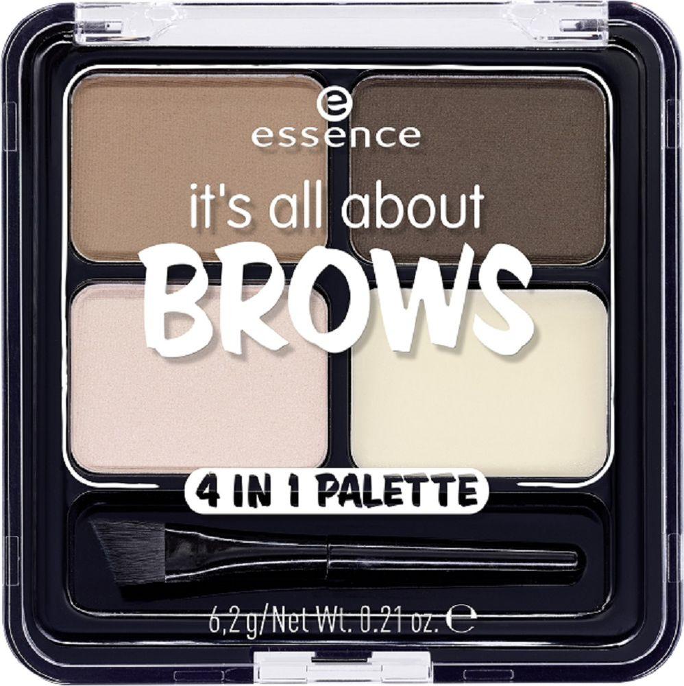 Тени для бровей Essence Its all about brows 4in1, разноцветный, 47 г недорого