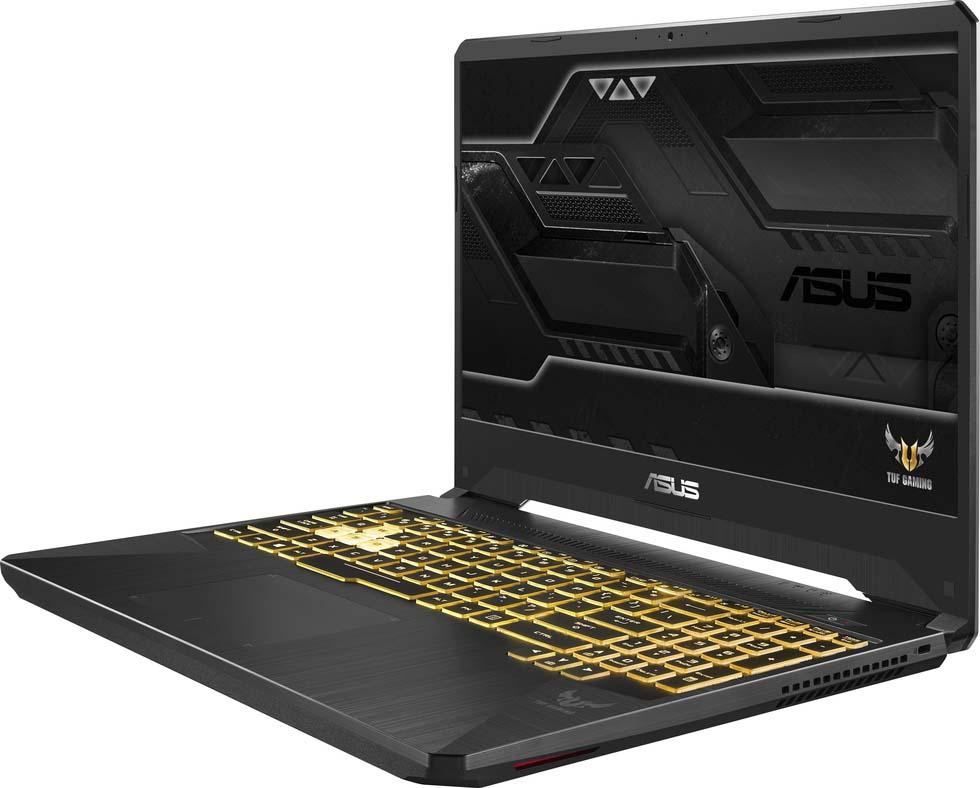 15.6 Игровой ноутбук ASUS TUF Gaming FX505GM 90NR0131-M05200, серый ноутбук asus fx705gd ew117t core i5 8300h 6gb 1tb 128gb ssd nv gtx1050 2gb 17 3 fullhd win10 black