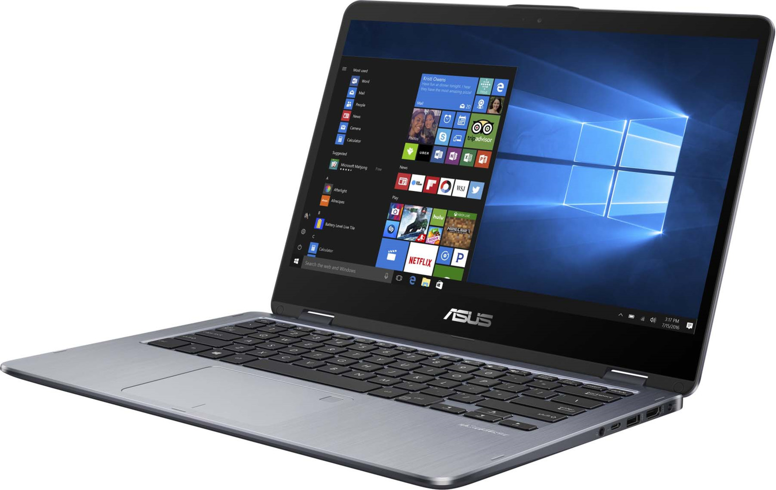 Ноутбук ASUS VivoBook Flip 14 TP401CA, 90NB0H21-M02860, 14, серый tp401ca ec083t