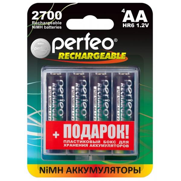 Аккумуляторная батарейка Perfeo Блистер 4 шт батарейка perfeo r6 4sh dynamic zinc 4 штуки