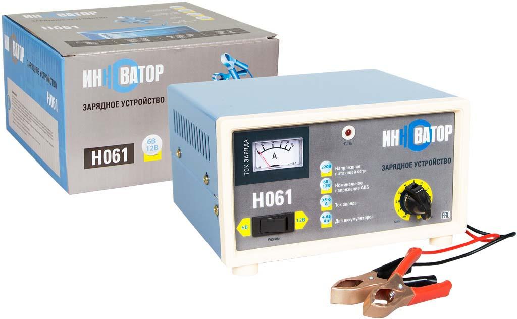 Зарядное устройство Инноватор, 6А (6/12В), серый зарядное устройство golden snail 141 gs9211 для аккумуляторных батарей golden snail 6а 6v 12v