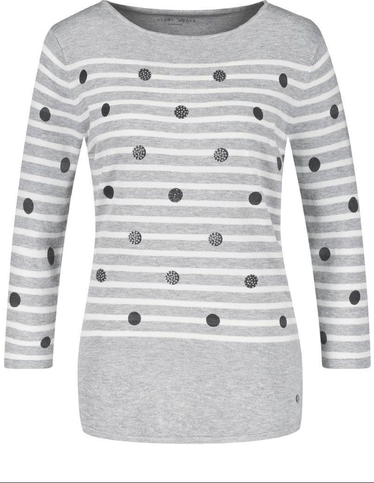 Пуловер женский Gerry Weber Casual, цвет: серый. 2 191-97 477-44702_02092. Размер 38 (44)2 191-97 477-44702_02092