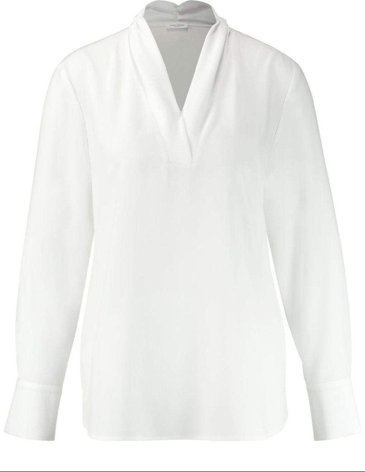 Блузка женская Gerry Weber, цвет: белый. 2 191-160 001-31501_99700. Размер 46 (52)2 191-160 001-31501_99700