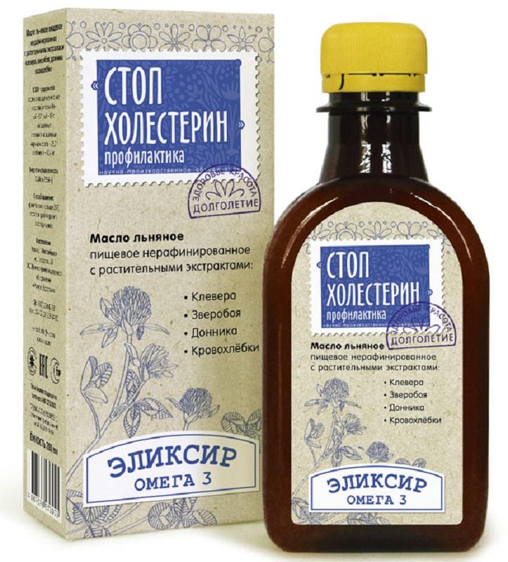 Масло Льняное Компас Здоровья Стоп Холестерин, 0,2 л масло льняное компас здоровья сибирское 0 2 л