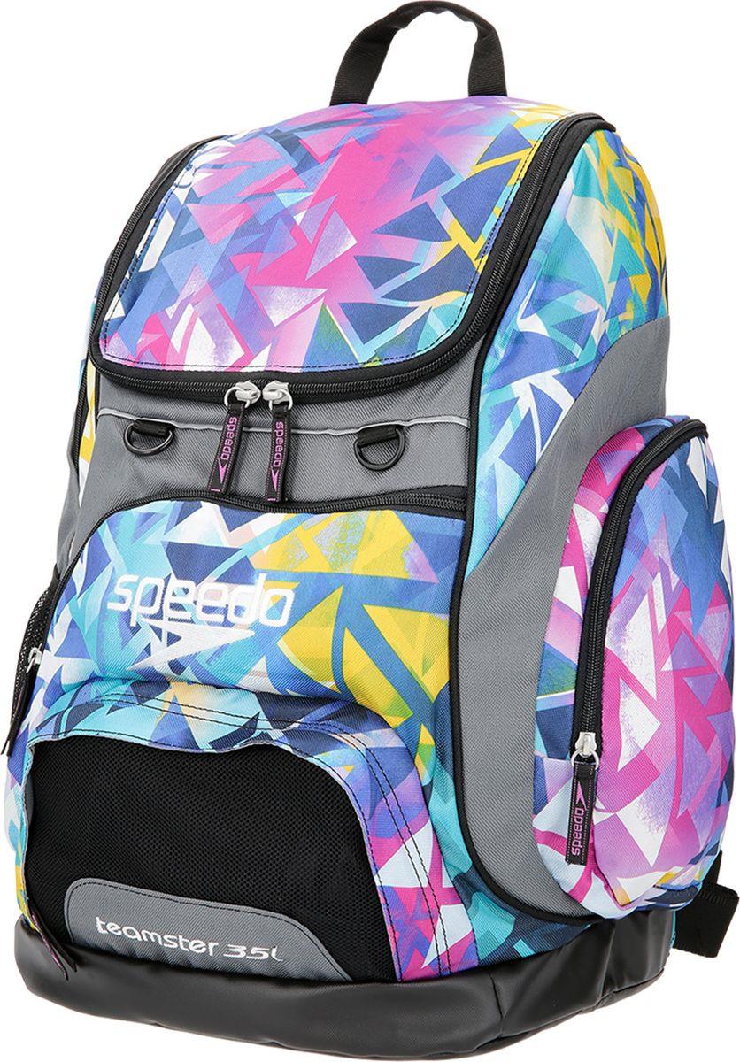 Рюкзак водонепроницаемый Speedo T-Kit Teamster Backpack Xu, 8-10707C780-C780, фиолетовый, голубой, фуксия цена и фото