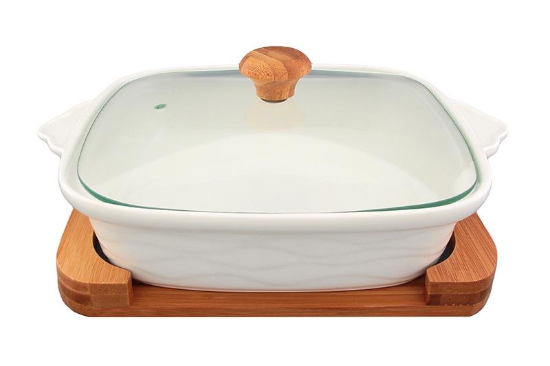 Блюдо Elan Gallery Айсберг, белый, коричневый набор фарфоровой посуды king wo 56