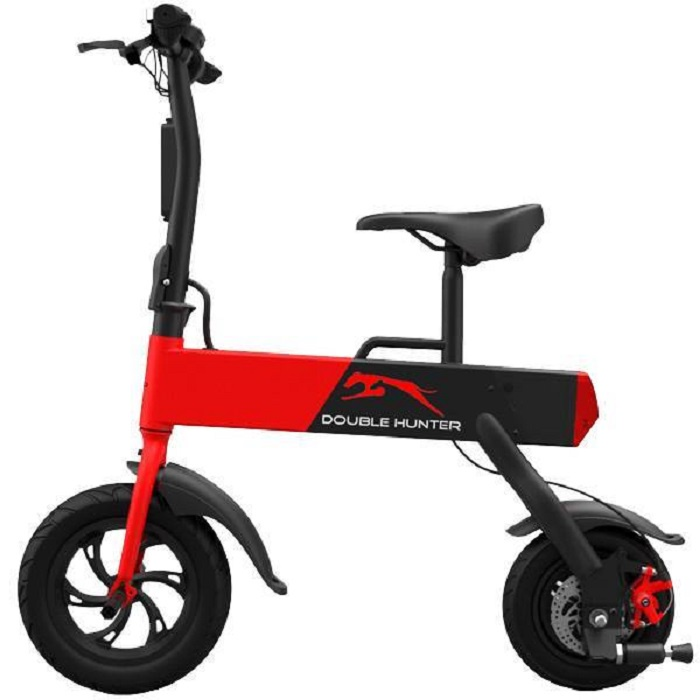 Электровелосипед Double Hunter P12, красный