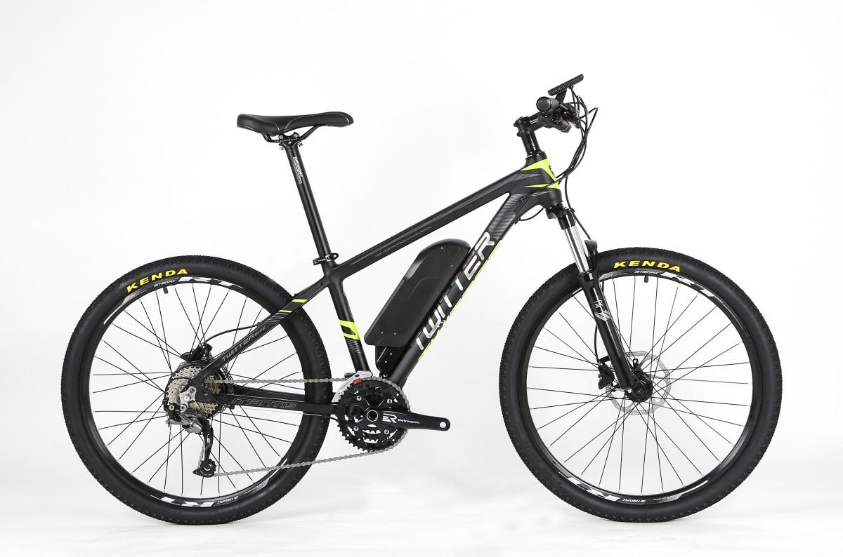 Электровелосипед Twitter MANTIS-E1-15.5, черно-серый тормоза для велосипеда avid elixir e1