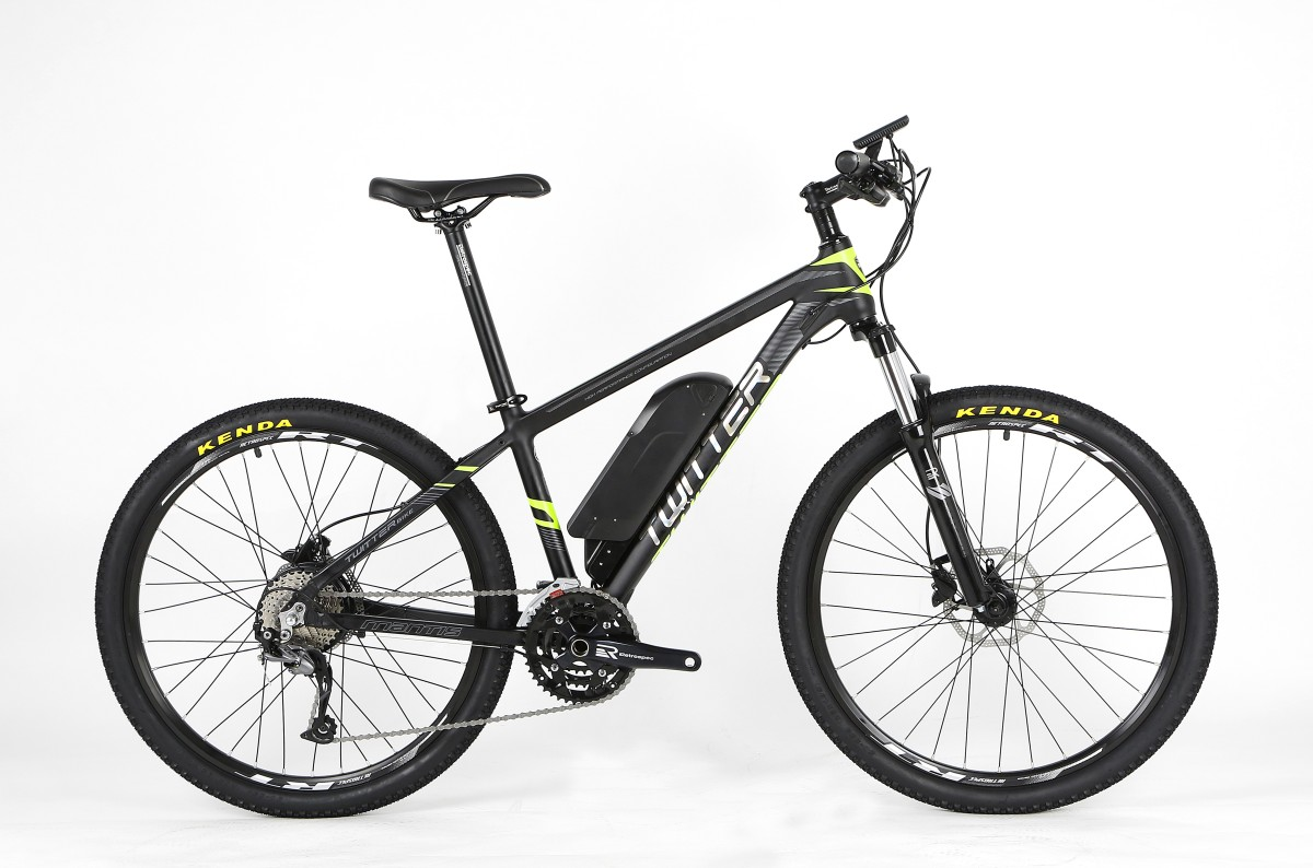 Электровелосипед Twitter MANTIS-E1-15.5, черно-серый