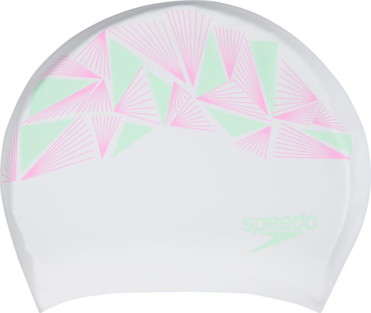 Шапочка для плавания Speedo, белый, розовый, мятный, 8-11306C9078-11306C907