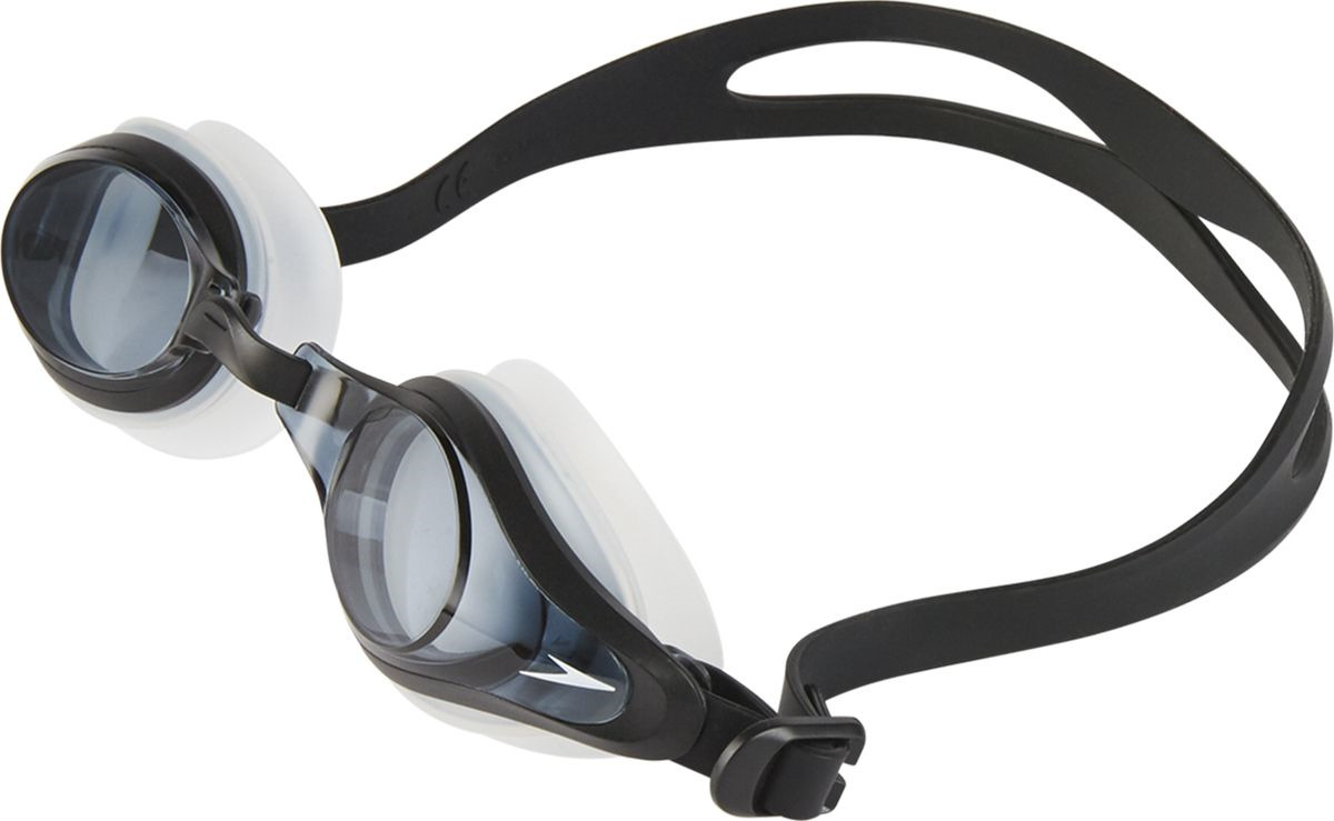 Очки для плавания Speedo Mariner Supreme Optical, прозрачный, черный, дымчатый, 11321B973, -8 saeko очки для плавания s14 turbo l31 с диоптриями 8 0 saeko