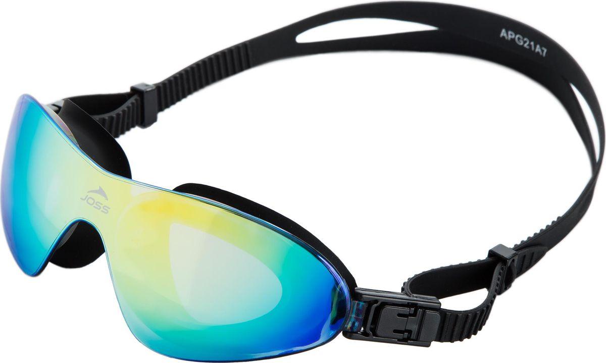 Очки для плавания Joss, с зеркальными линзами, цвет: чёрный. Размер универсальный очки для плавания xbase размер s