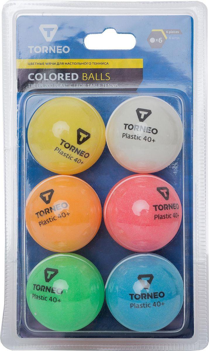 Шарики для пинг-понга Torneo, S19ETOAQ001, 6 шт шарики для пинг понга atemi 1 бел белый 6
