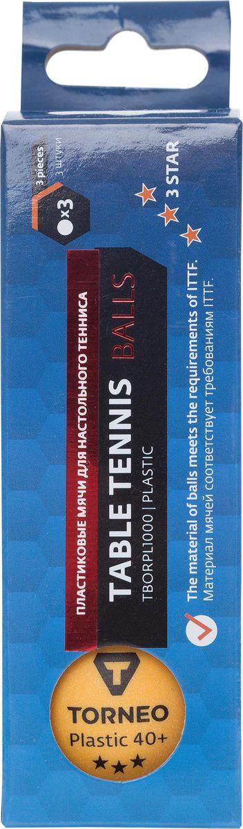 Шарики для пинг-понга Torneo, S19ETOAQ002, 3 шт цена