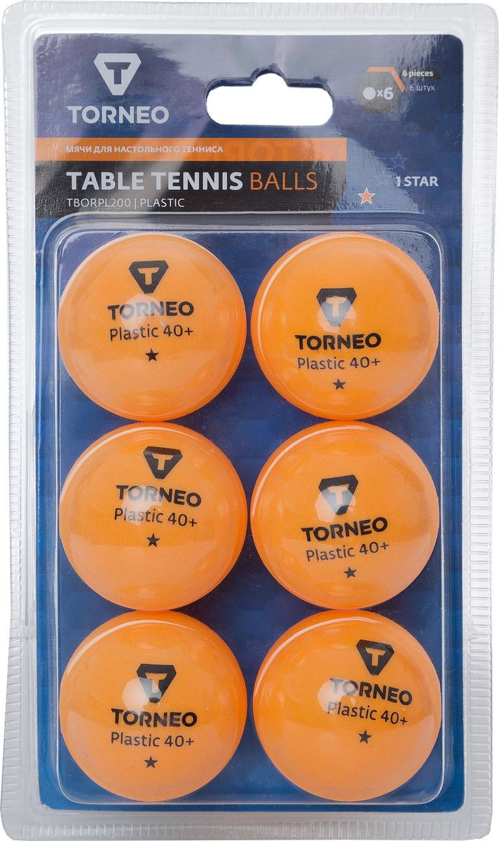 Шарики для пинг-понга Torneo, S19ETOAQ003, 6 шт