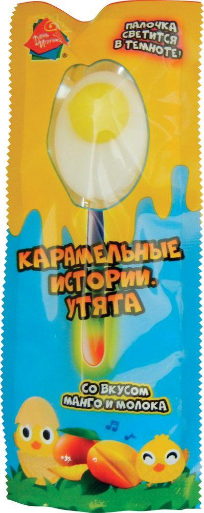 Карамель на палочке Конфитрейд День Игрушки Карамельные истории. Утята, светящаяся, 24 шт х 10 г конфитрейд trolls карамель леденцовая на палочке с пастой со вкусом шоколада 24 шт по 17 г