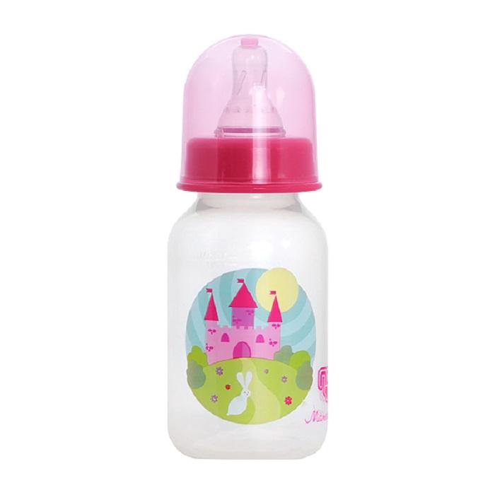 Бутылочка для кормления ПОМА 125 мл прозрачный, розовый avent бутылочка для кормления 125 мл