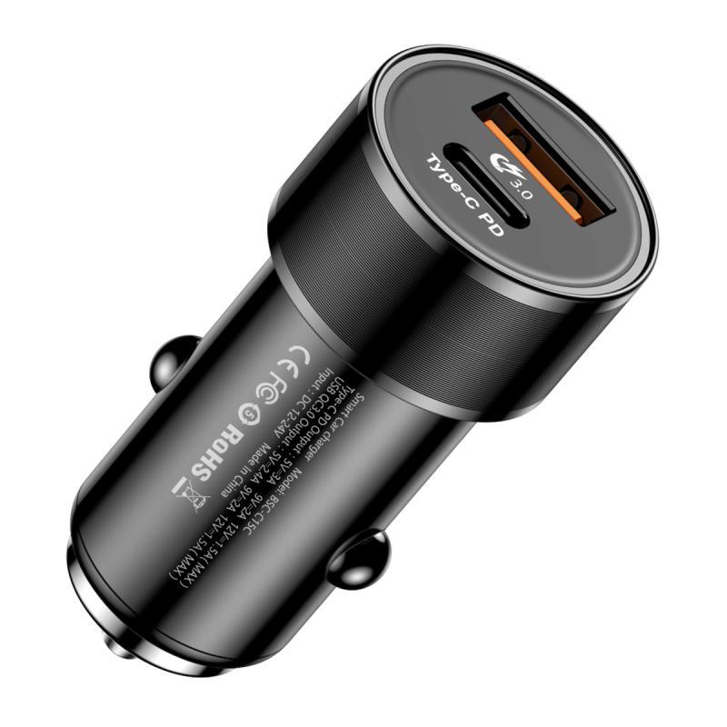 Автомобильное зарядное устройство Baseus CAXLD-A01, черный зарядное устройство baseus usb зарядное устройство для путешестьвий черный