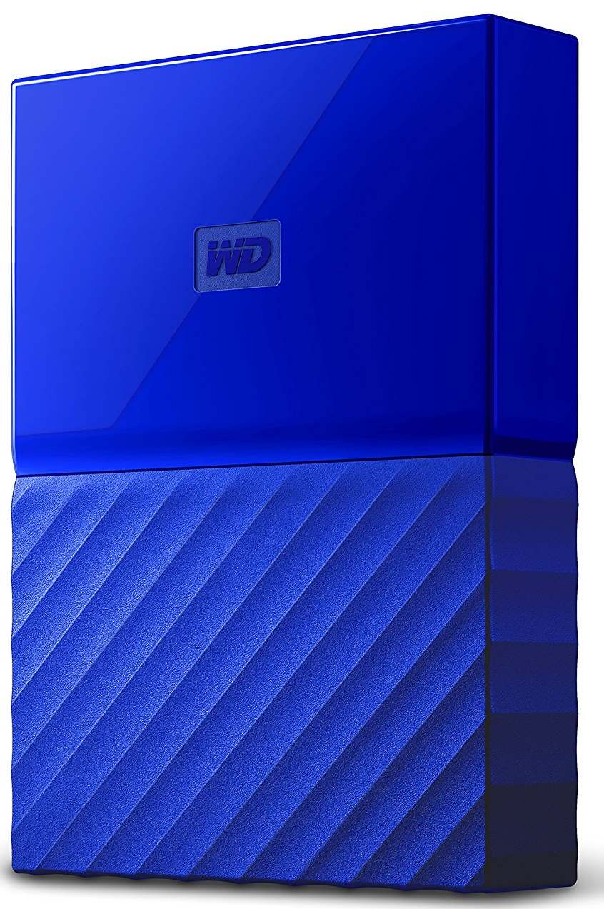"Портативный внешний жесткий диск WD 1 TB My Passport , 2.5"", USB 3.0, синий"