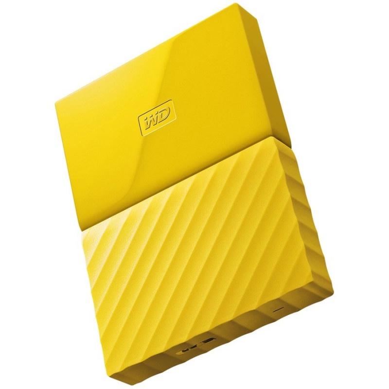 """Портативный внешний жесткий диск WD HDD 2 TB My Passport Slim , 2.5"""", USB 3.0, желтый"""