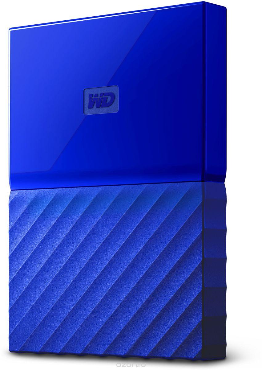 "Портативный внешний жесткий диск WD HDD 2 TB My Passport Slim, 2.5"", USB 3.0, синий"