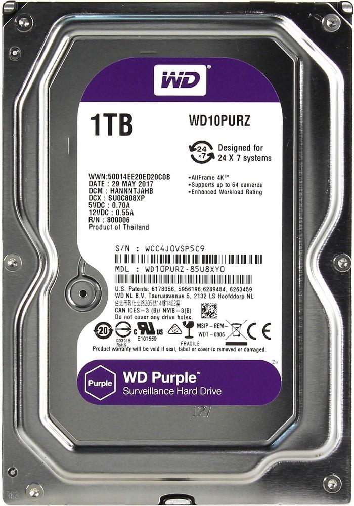 Внутренний жесткий диск WD HDD 1TB IntelliPower, SATA-III, 5400 RPM, 64 Mb, 3.5'', DV