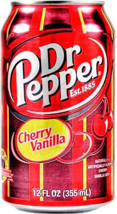 """Газированный напиток Dr.Pepper """"Вишня-ваниль"""", 12 шт по 355 мл"""