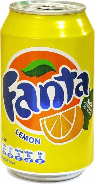 Напиток газированный Fanta Lemon, 24 шт х 330 мл