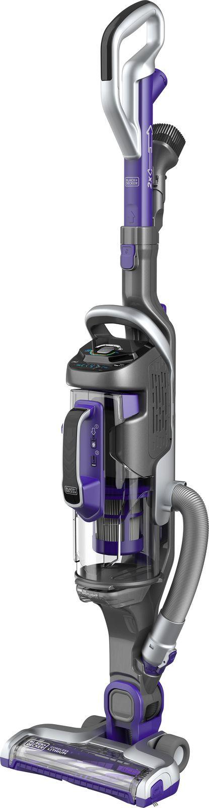 Вертикальный пылесос Black & Decker Multipower 2 в 1, фиолетовый