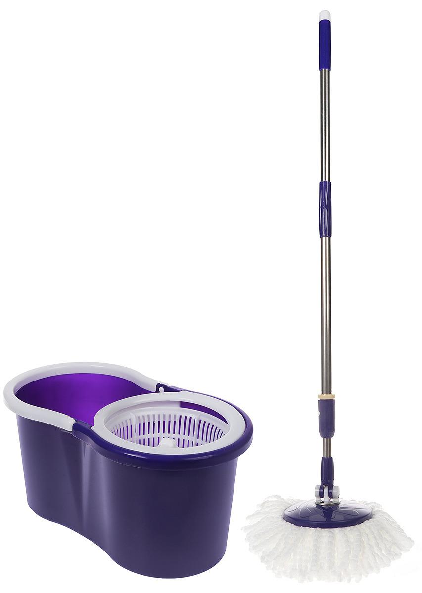 Комплект для уборки Rosenberg: швабра и ведро с отжимом, 77.858@27741, фиолетовый