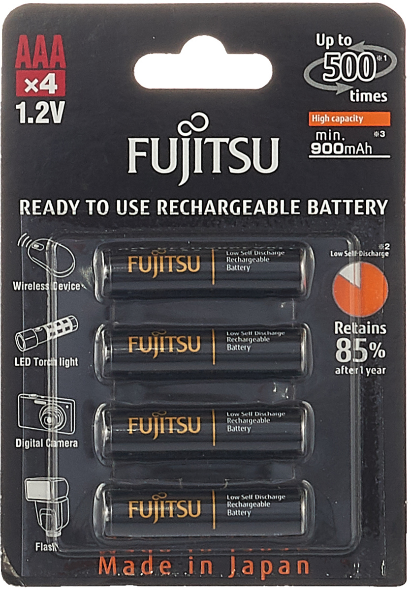 Аккумулятор Fujitsu, FDKB00008, тип ААА, 900 mAh, 4 шт