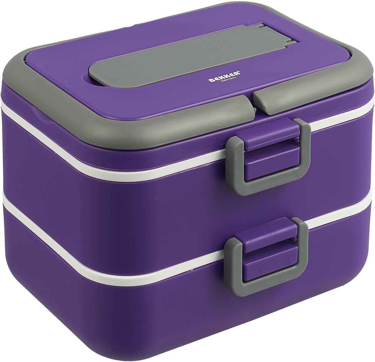 Контейнер пищевой Bekker, BK-4366, фиолетовый, 750 мл контейнер 2 28л bekker bk 5108