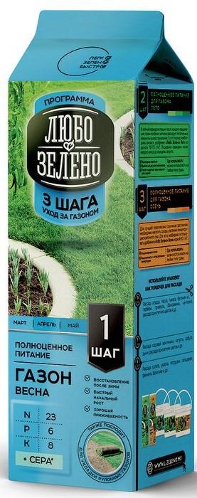 "Удобрение для газона Любо-Зелено ""Шаг 1 Весна"", 1 кг"