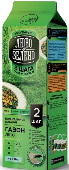 "Удобрение для газона Любо-Зелено ""Шаг 2 Лето"", 1 кг"