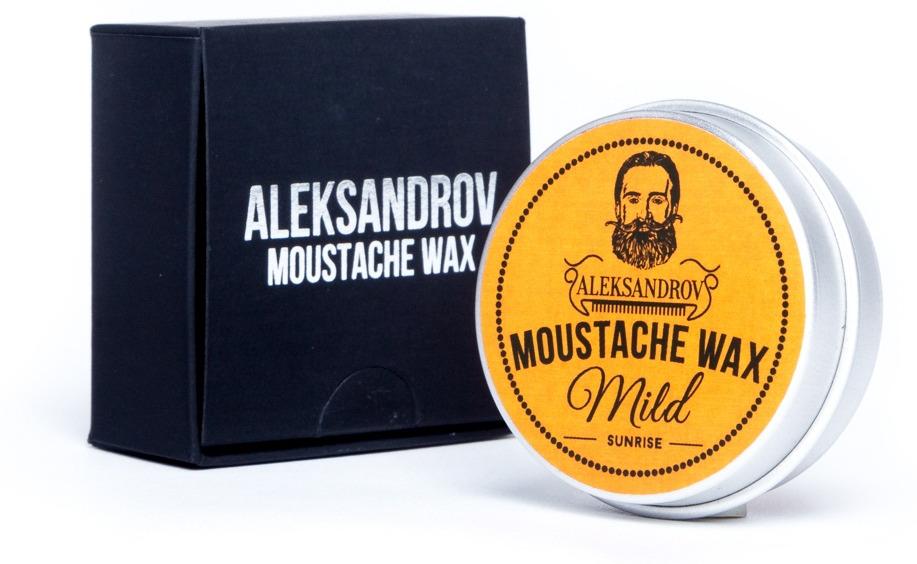 Воск для усов Aleksandrov Mild Sunrise, умеренная фиксация, 13 г набор для усов и бороды mondial sv 075 baf n