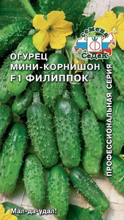 """Семена Седек """"Огурец Филиппок F1"""", 00000013940, 0,3 г"""