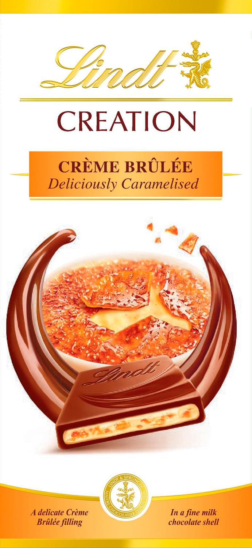 Шоколад молочный Lindt Creation Крем-Брюле, 150 г шоколад молочный lindt creation пралине с вафлей 150 г