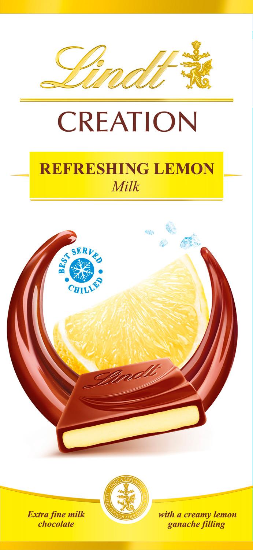 Шоколад молочный Lindt Creation Лимон, 150 г шоколад lindt excellence малина 100г