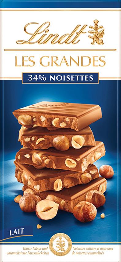 Шоколад молочный Les Grandes Лесной Орех, 150 г milka шоколад daim молочный шоколад с кусочками миндальной карамели 100 г