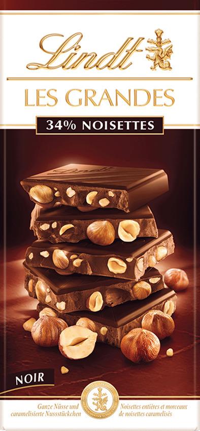 Шоколад темный Les Grandes Лесной Орех, 150 г lindt excellence малина темный шоколад 100 г