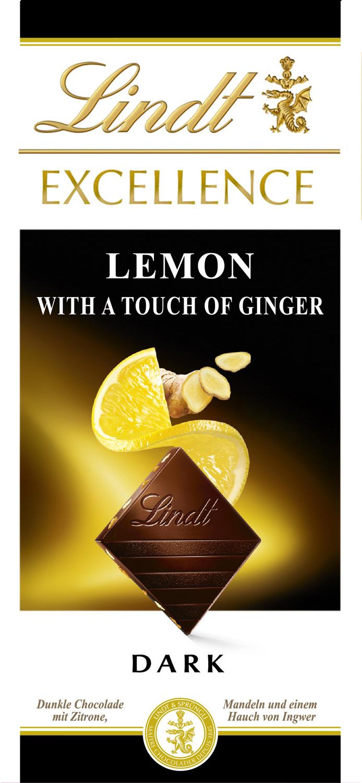 Шоколад темный Lindt Excellence Лимон и имбирь, 100 г lindt excellence молочный шоколад 100 г