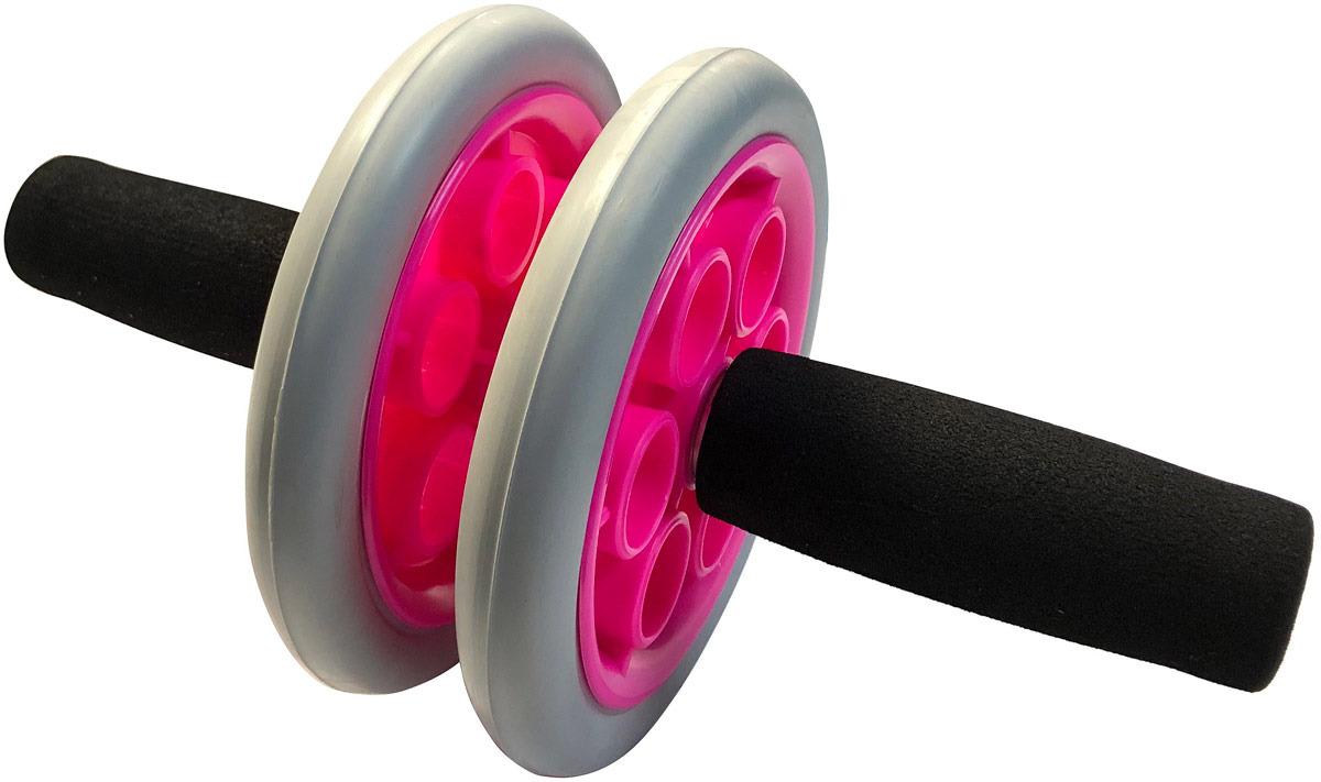 Ролик гимнастический Indigo SM-342, серо-розовый Indigo