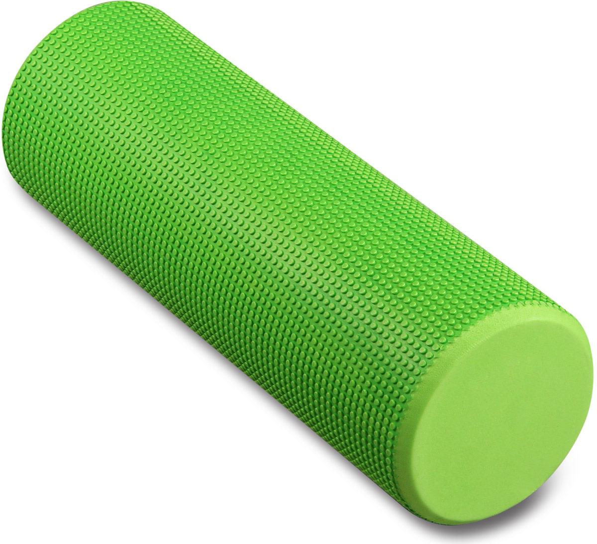 Ролик массажный для йоги Indigo, зеленый, 15 х 45 см ролик для йоги и пилатеса starfit fa 506 цвет зеленый 15 х 15 х 90 см