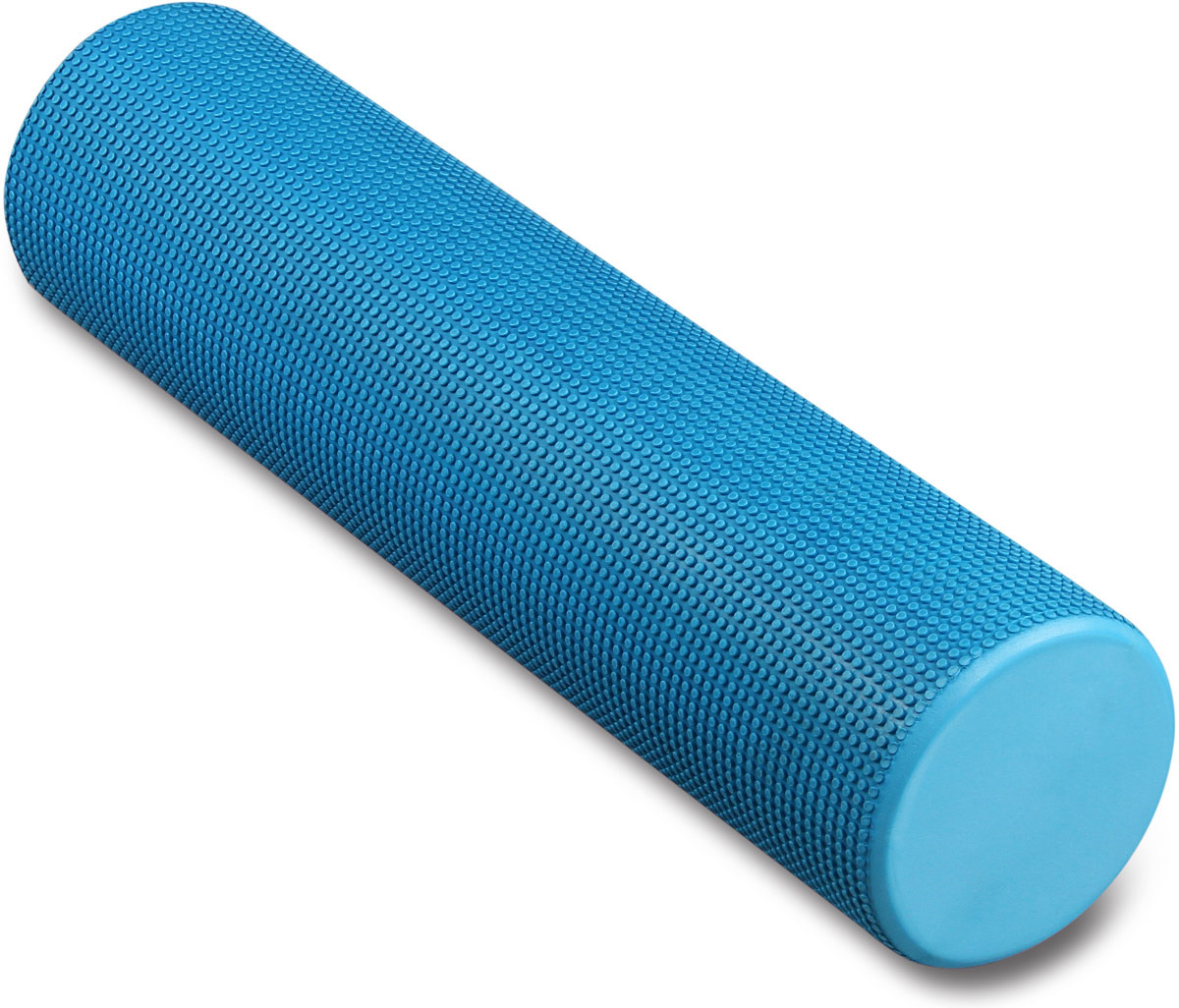 Ролик массажный для йоги Indigo, голубой, 15 х 60 см ролик массажный torneo электрический