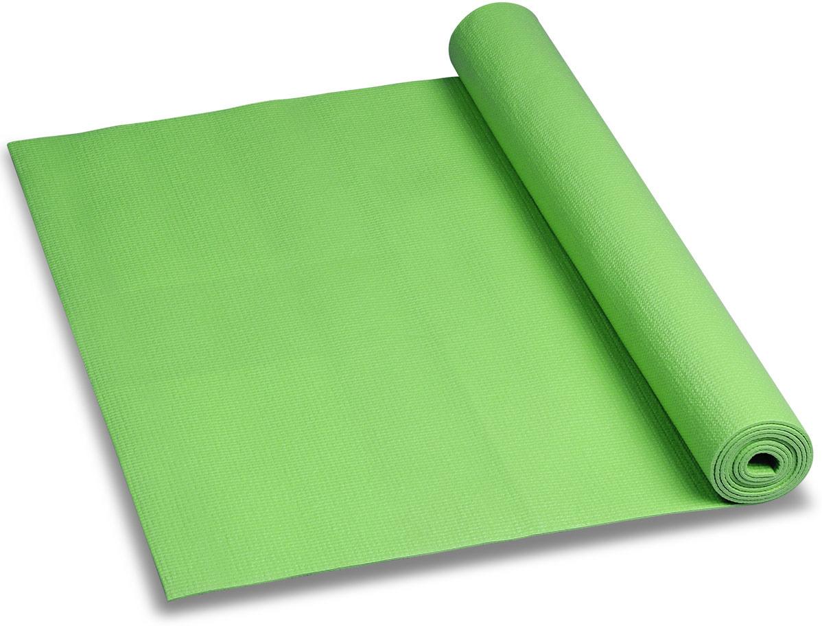 Коврик для йоги и фитнеса Indigo, зеленый, 173 х 61 х 0,3 см коврик для йоги onerun цвет фиолетовый 183 х 61 х 0 4 см