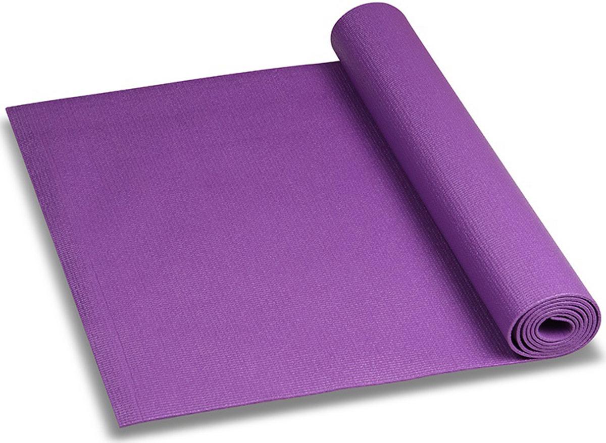 Коврик для йоги и фитнеса Indigo, фиолетовый, 173 х 61 х 0,6 см коврик для йоги onerun цвет фиолетовый 183 х 61 х 0 4 см